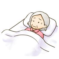 寝込んだおばあちゃんふりー