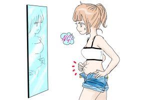 鏡を見て フリー